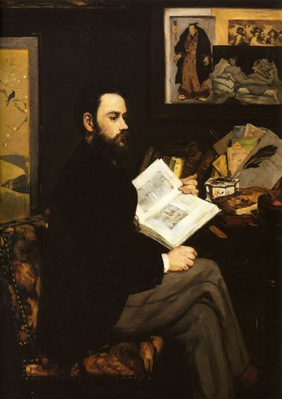 Manet, Edouard: Portrait of Emile Zola, 1868. Fine Art Print/Poster. Sizes: A4/A3/A2/A1 (00682)